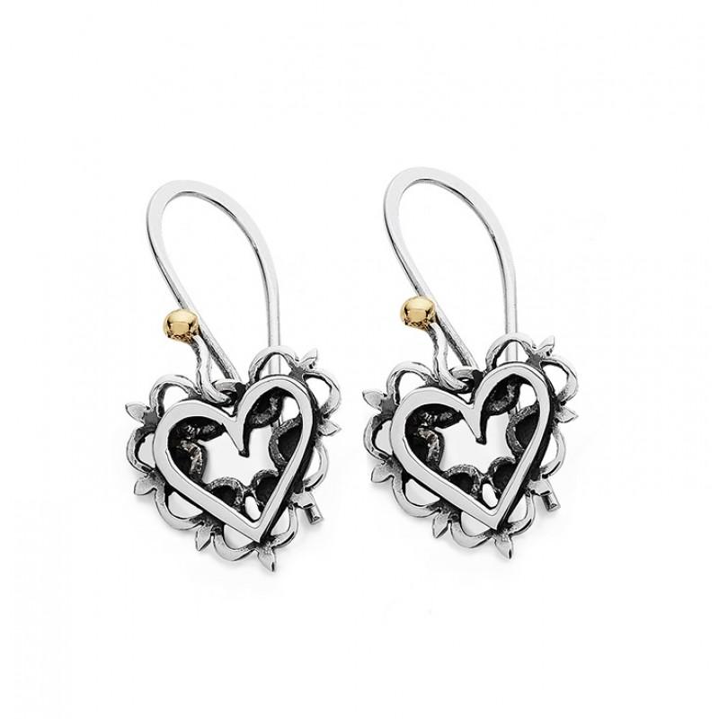 Vintage Heart Earrings - DVR6