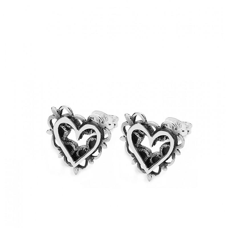 Vintage Heart Earrings - SVR6
