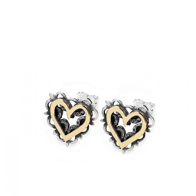 Vintage Heart Earrings - SVR6G